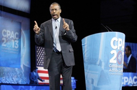 Dr. Benjamin Carson, director of Pediatric Neurosurgery at Johns Hopkins School of Medicine, delivers remarks to the Conservative Political Action Conference (CPAC) in National Harbor, Maryland Photo:REUTERS/Jonathan Ernst