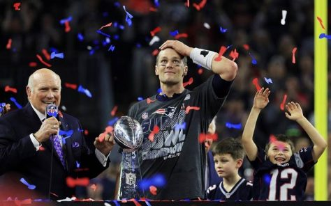 Former NFL QB and Fox Sports Host Terry Bradshaw, NE Patriots QB Tom Brady and sons post Super Bowl win 2017