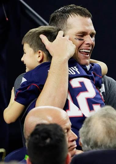 Patriots QB Tom Brady and son post Super Bowl win 2017